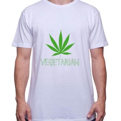 Vegetarian - Tshirt Homme Weed Tshirt Weed Homme