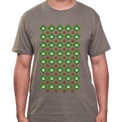 Weed pattern - Tshirt Homme Weed Tshirt Weed Homme