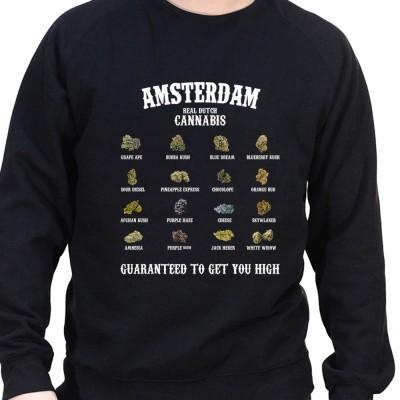 Canabis list - Sweat Crewneck Homme Weed Sweat Crewneck Homme Weed