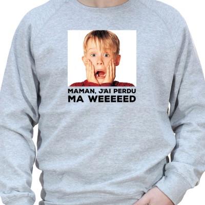maman j'ai perdu ma weed - Sweat Crewneck Homme Weed Sweat Crewneck Homme Weed