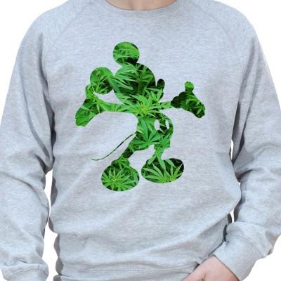 Mickey weed 2 - Sweat Crewneck Homme Weed Sweat Crewneck Homme Weed