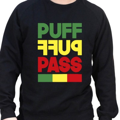 puff puff pass - Sweat Crewneck Homme Weed Sweat Crewneck Homme Weed