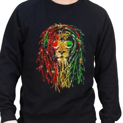 Rasta Lion - Sweat Crewneck Homme Weed Sweat Crewneck Homme Weed
