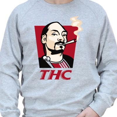 THC - Sweat Crewneck Homme Weed Sweat Crewneck Homme Weed