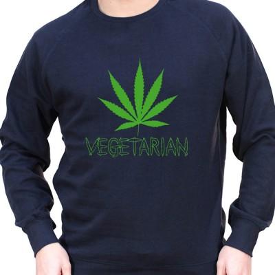 Vegetarian - Sweat Crewneck Homme Weed Sweat Crewneck Homme Weed