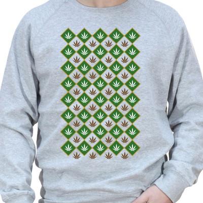 Weed pattern - Sweat Crewneck Homme Weed Sweat Crewneck Homme Weed