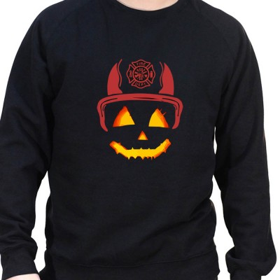 Halloween pompier - Sweat Crewneck Homme Pompier Sweat Crewneck Homme