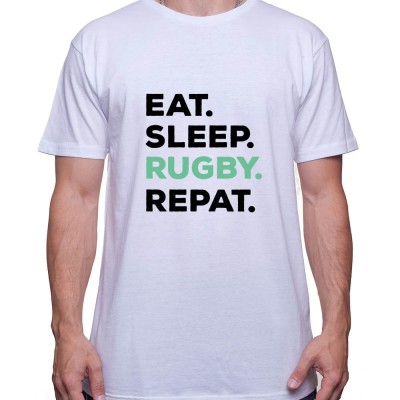 Eat Sleep Rugby REpeat - Tshirt Homme Rugby