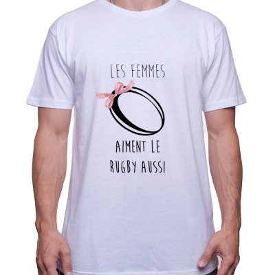 Les femmes aimes le rugby aussi - Tshirt Homme Rugby