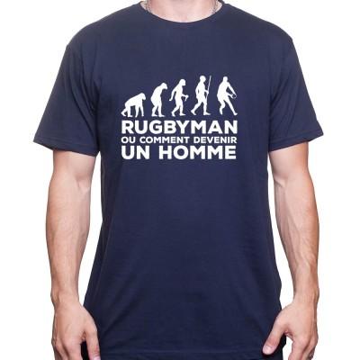 Rugby est ce qui fait un homme - Tshirt Homme Rugby Tshirt Homme Rugby