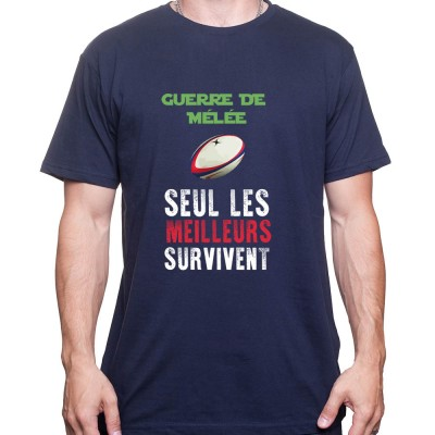 Scrum Wars les meilleurs survivront - Tshirt Homme Rugby Tshirt Homme Rugby