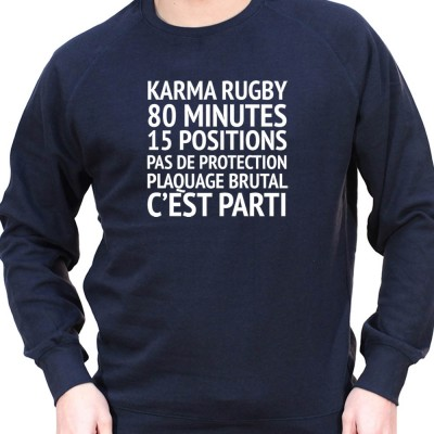 Karma Rugby - Sweat Crewneck Homme Rugby