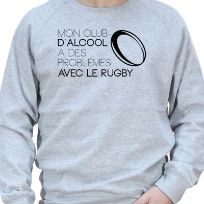 Mon club d'alcool a des probleme avec le rugby - Sweat Crewneck Homme Rugby Sweat Crewneck Rugby