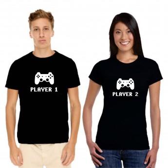 Player 1 et 2 – Tshirt Duo pour Couple
