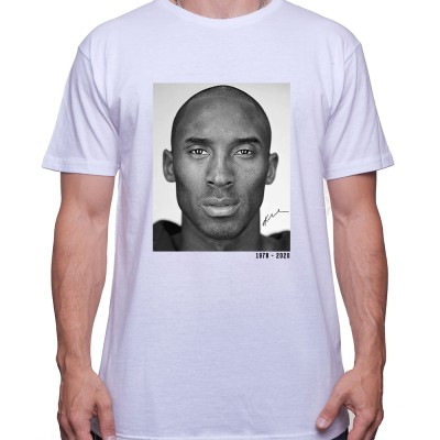 Kobe Black and white RIP Tshirt Homme Basket