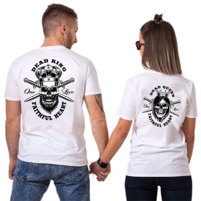 King & Queen of Death Tshirt Duo Couple