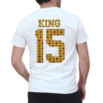 Tshirt Couple – Lot King & Queen Camo Wax 2 Personnalisable – Shirtizz