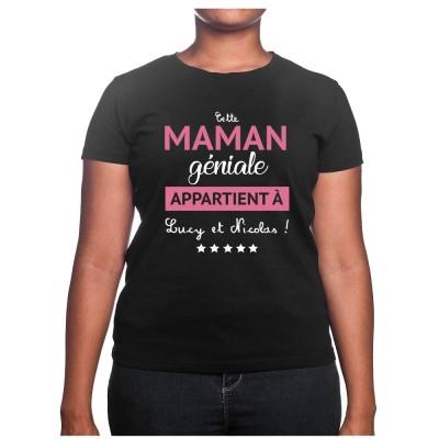 Cette maman géniale appartient a - Tshirt Cadeau Maman Homme
