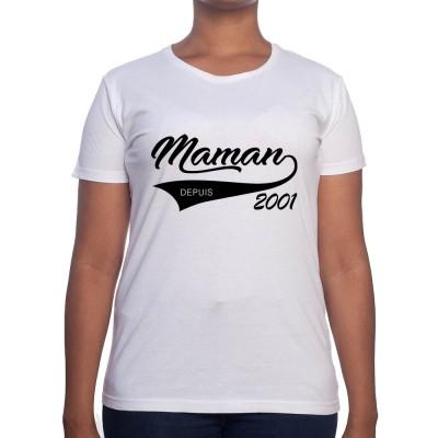 Maman depuis - Tshirt Cadeau Maman Homme