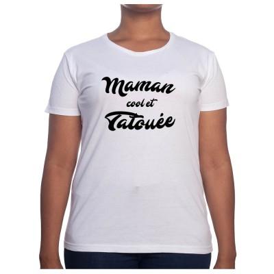 Maman cool et tatoué - Tshirt Cadeau Maman Homme