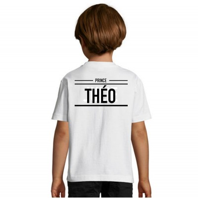 Tshirt Prince Name - Shirtizz Enfant