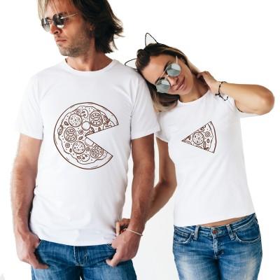 Une pizza à deux ? Tshirt Duo Couple Tshirt DUO