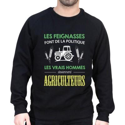 Les vrais hommes deviennent agriculteurs - Sweat Humour Agriculteur Sweat Homme agriculteur