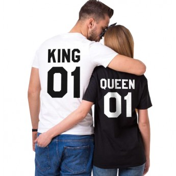King & Queen - Tshirt Duo Couple Tshirt DUO